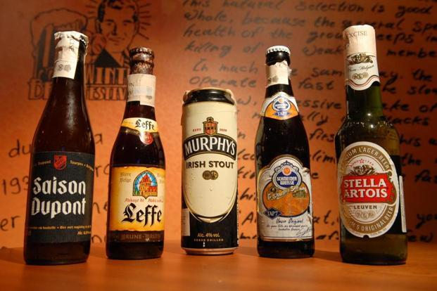 Beers from all over the world. Photo: Hemant Mishra/Mint